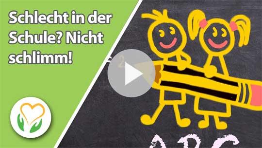 Zum Interview auf Youtube: Schlecht in der Schule? Nicht schlimm!