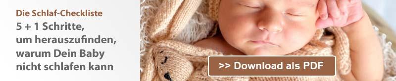 Die Schlaf-Checkliste: 5+1 Schritte, um herauszufinden, warum Dein Baby nicht schlafen kann