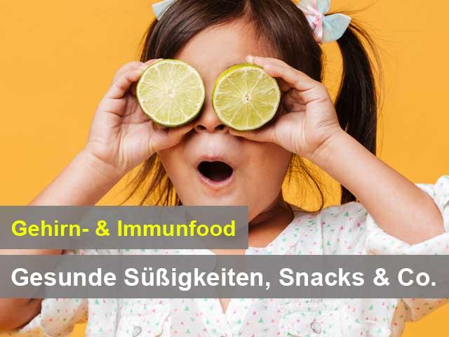 Onlinekurs Gehirn- & Immunfood Gesunde Süßigkeiten, Snacks & Co.